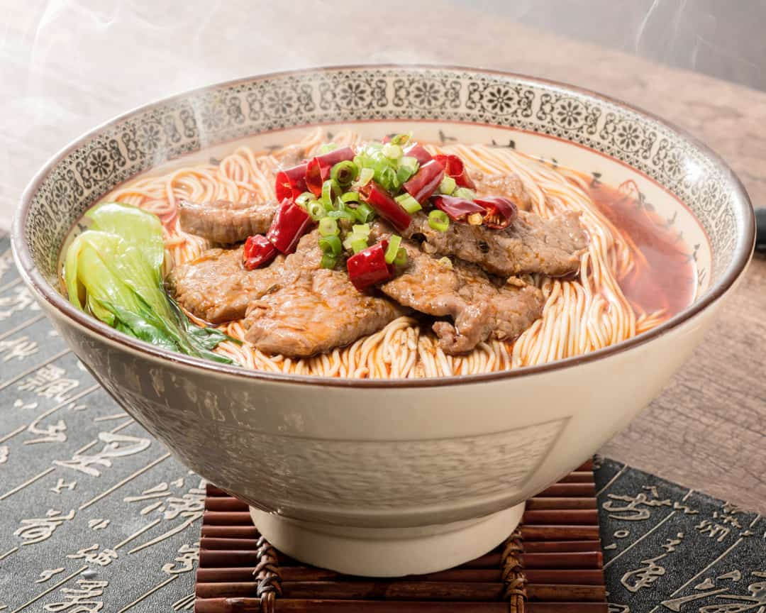H17 Paradise Dynasty La Mian with Poached Beef in Spicy Szechuan Soup水煮澳洲牛肉拉面